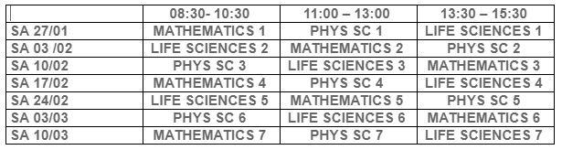 Akadplus-timetable